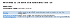 Where is Web Site Administration Tool in VS2012 ?