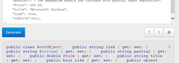 Create Classes from JSON with ASP.NET and Web Tools 2012.2